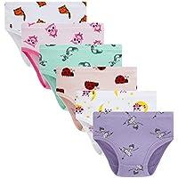 Cadidi Dinos 100% Cotton Soft Cotton Panties Little Girls' Undies Assorted Underwear (Pack of 6) Size 6