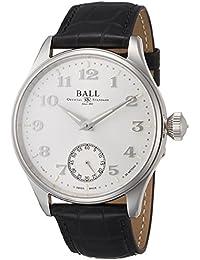 [ボールウォッチ]BALLWATCH 腕時計 トレインマスター クリーブランド ホワイト文字盤 レザーベルト 手巻き NM3038D-LL2J-WH メンズ 【並行輸入品】