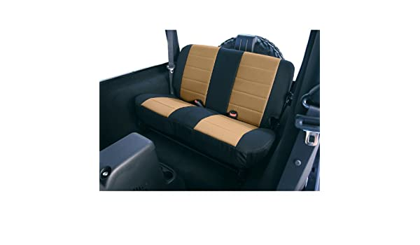 Pair Rugged Ridge 13210.04 Black /& Tan Custom Neoprene Front Seat Cover
