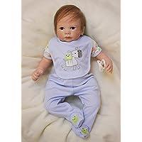 Pursue Baby Realistic Rebornベビー人形Weighted、Little Donkey Goホーム、20インチソフトビニールLifelike新生児赤ちゃん幼児人形withおしゃぶり