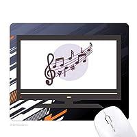 丸い形のflappg音楽ノート ノンスリップラバーマウスパッドはコンピュータゲームのオフィス
