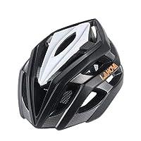 大人用サイクリングバイクヘルメットは、男性と女性のために特別に保護されたCPSC認定調節可能な軽量ヘルメット (Color : Black)