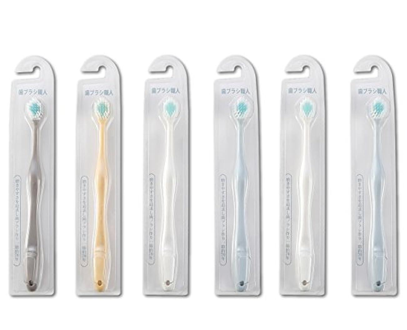 皮肉な平均すすり泣き歯ブラシ職人Artooth ® 田辺重吉 磨きやすい歯ブラシ ワイド 6列レギュラー AT-30 (6本組)