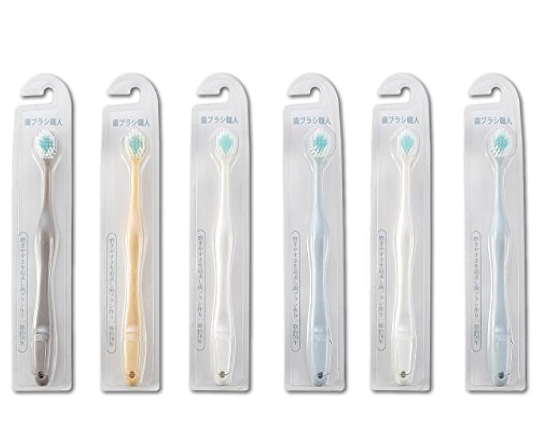 動力学少なくとも蒸歯ブラシ職人Artooth ® 田辺重吉 磨きやすい歯ブラシ ワイド 6列レギュラー AT-30 (6本組)