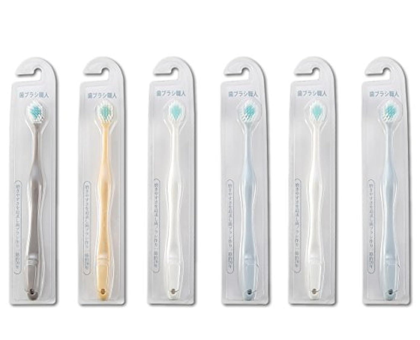 泥沼富チラチラする歯ブラシ職人Artooth ® 田辺重吉 磨きやすい歯ブラシ ワイド 6列レギュラー AT-30 (6本組)