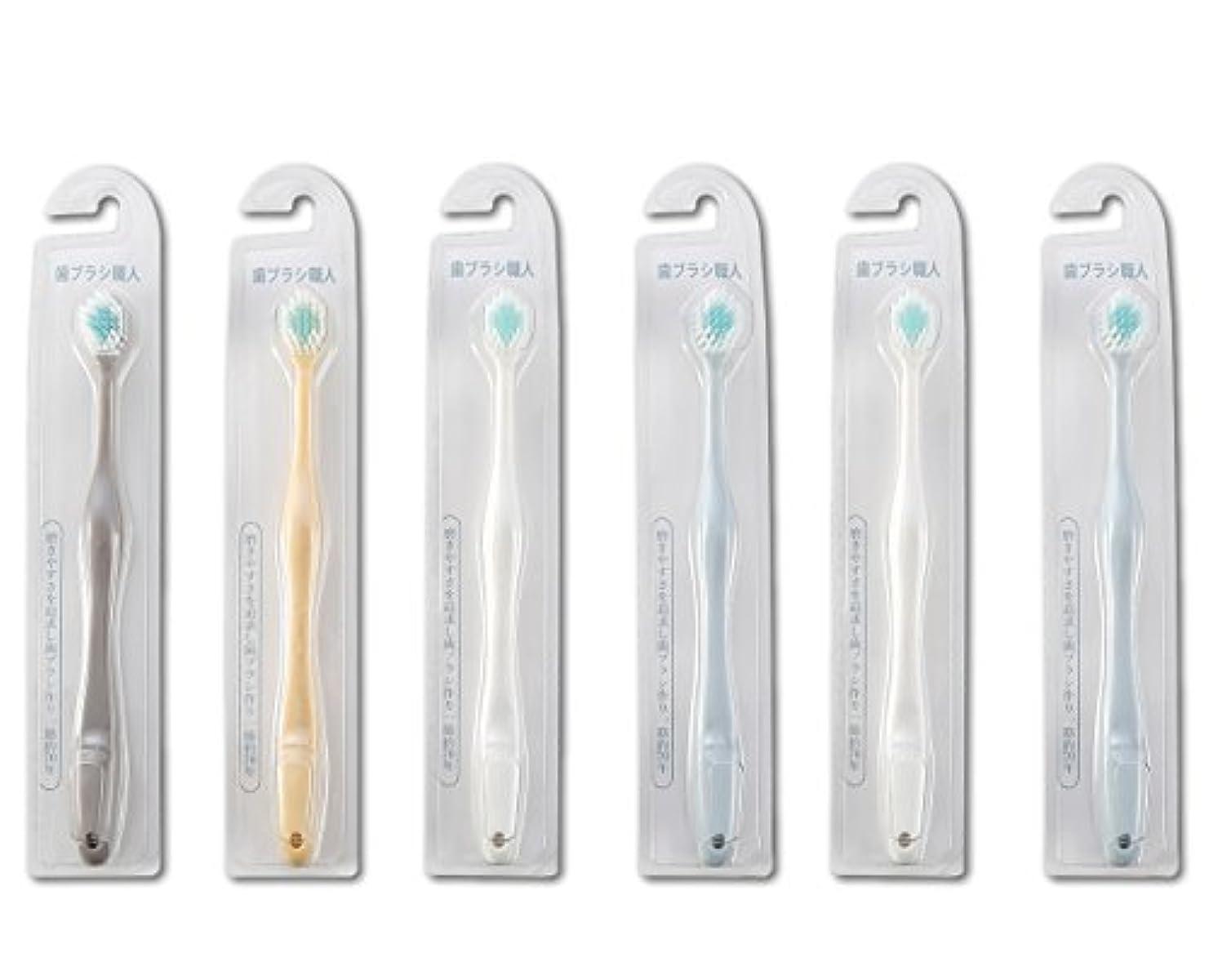 合成マントル別れる歯ブラシ職人Artooth ® 田辺重吉 磨きやすい歯ブラシ ワイド 6列レギュラー AT-30 (6本組)