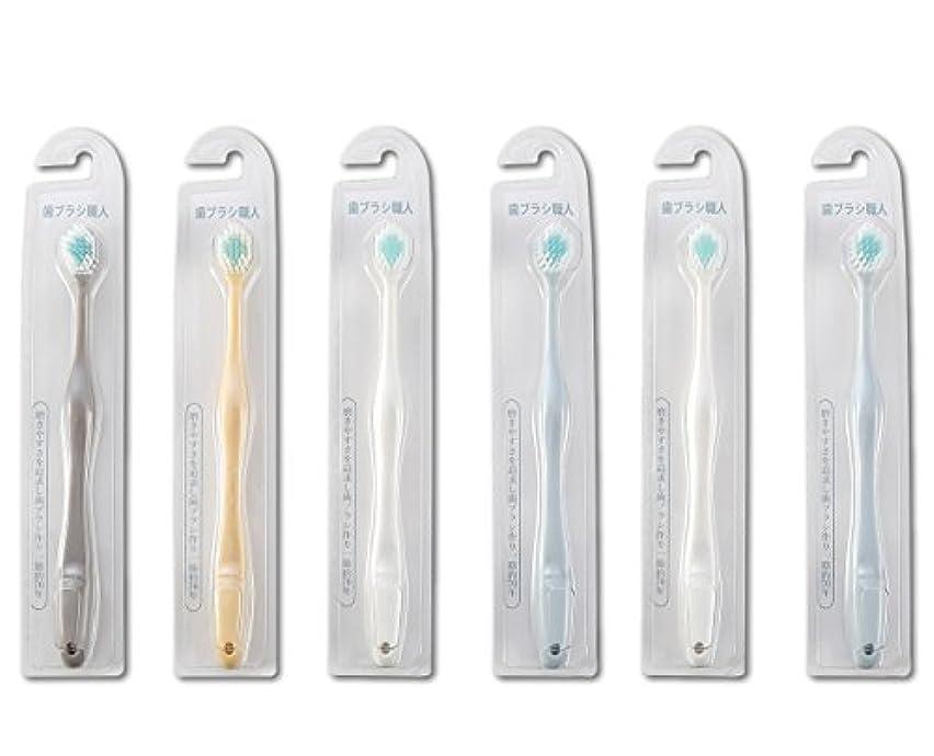 マナーマナー桃歯ブラシ職人Artooth ® 田辺重吉 磨きやすい歯ブラシ ワイド 6列レギュラー AT-30 (6本組)