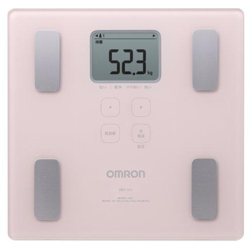 オムロン 体重・体組成計 カラダスキャン ピンク HBF-214-PK