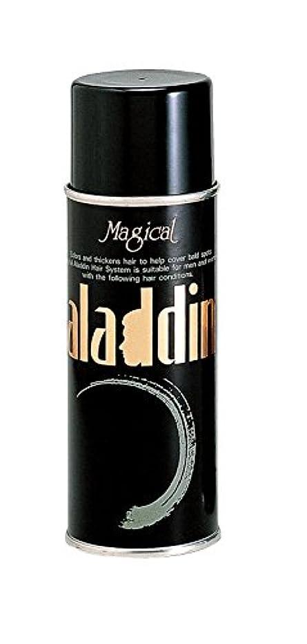 詩乳白みすぼらしいアラジン 増毛スプレー200g ブラック