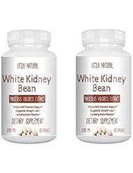 お得な2個セット!  白いんげん豆サプリ  ホワイトキドニービーン抽出液  600mg 60ベジタブルカプセル White Kidney Bean [並行輸入品]