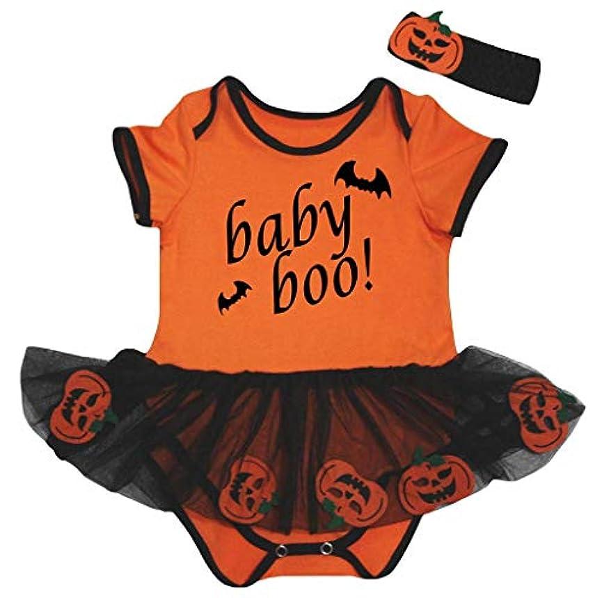 七時半劇作家の頭の上[キッズコーナー] ハロウィン Boo! オレンジ カボチャ 子供ボディスーツ、子供のチュチュ、ベビー服、女の子のワンピースドレス Nb-18m (オレンジ, Medium) [並行輸入品]