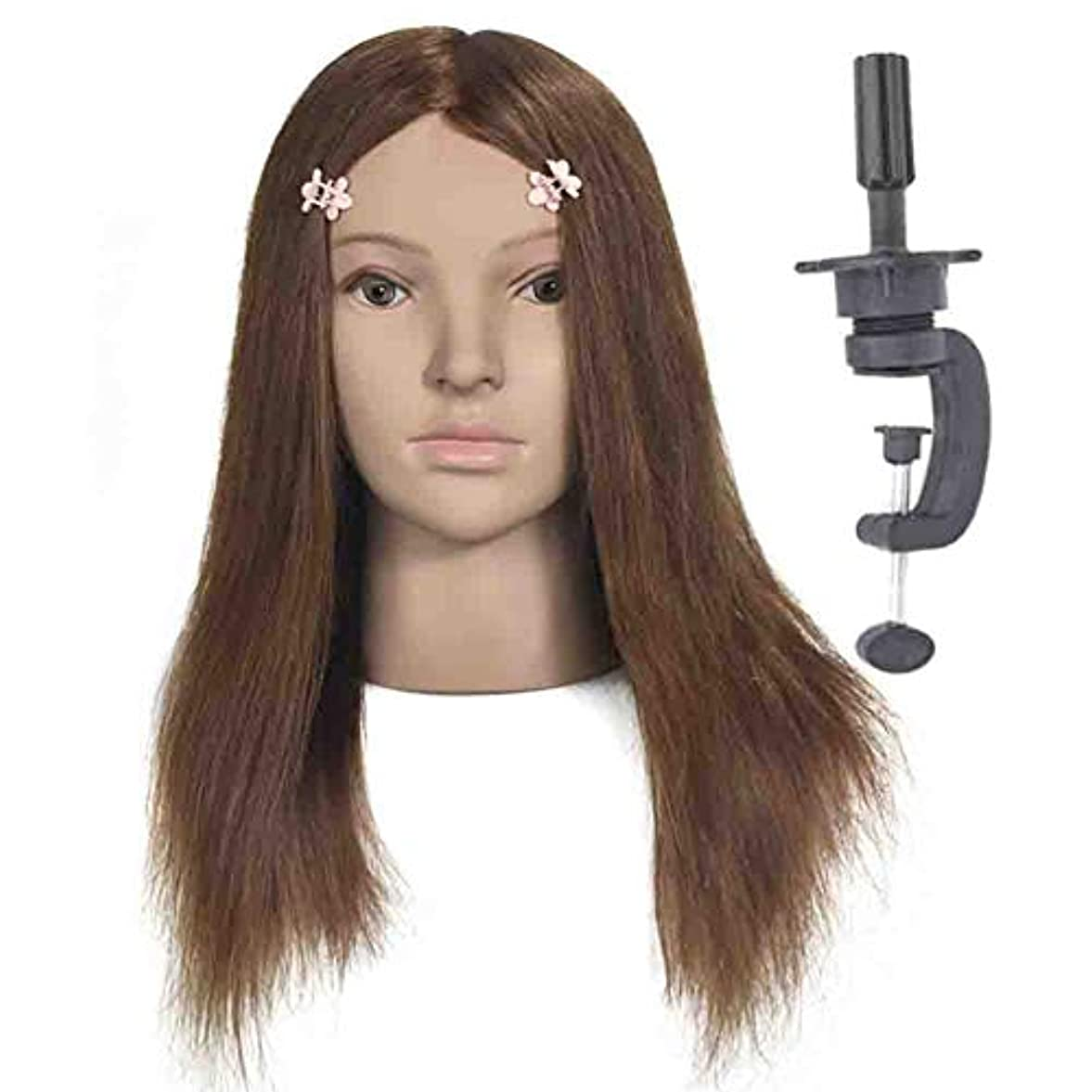 100%本物の髪型モデルヘッド花嫁ヘアエクササイズヘッド金型理髪店学習ダミーヘッドはパーマ毛髪染料することができます