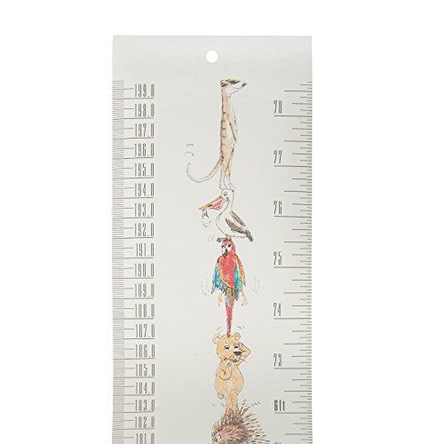 Talltape - 持ち運びに便利な壁掛型の身長計。無料ミニ油性ペン付き。赤ちゃんから大人まで測定できる0〜200cm。6つのデザイン。一生の記念品に。 (Wild Animals)
