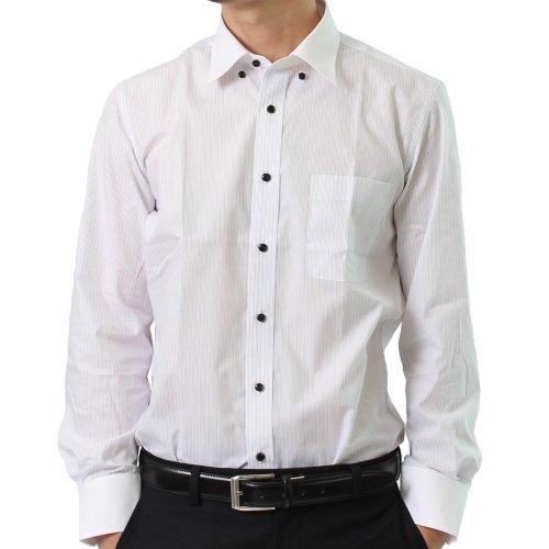 [エムエムワン] MM/ONE 厳選した全16種類から選べる メンズ ビジネスシャツ ボタンダウン ワイシャツ ドレスシャツ セット 【012L サックス×ホワイト】 S(37-81)