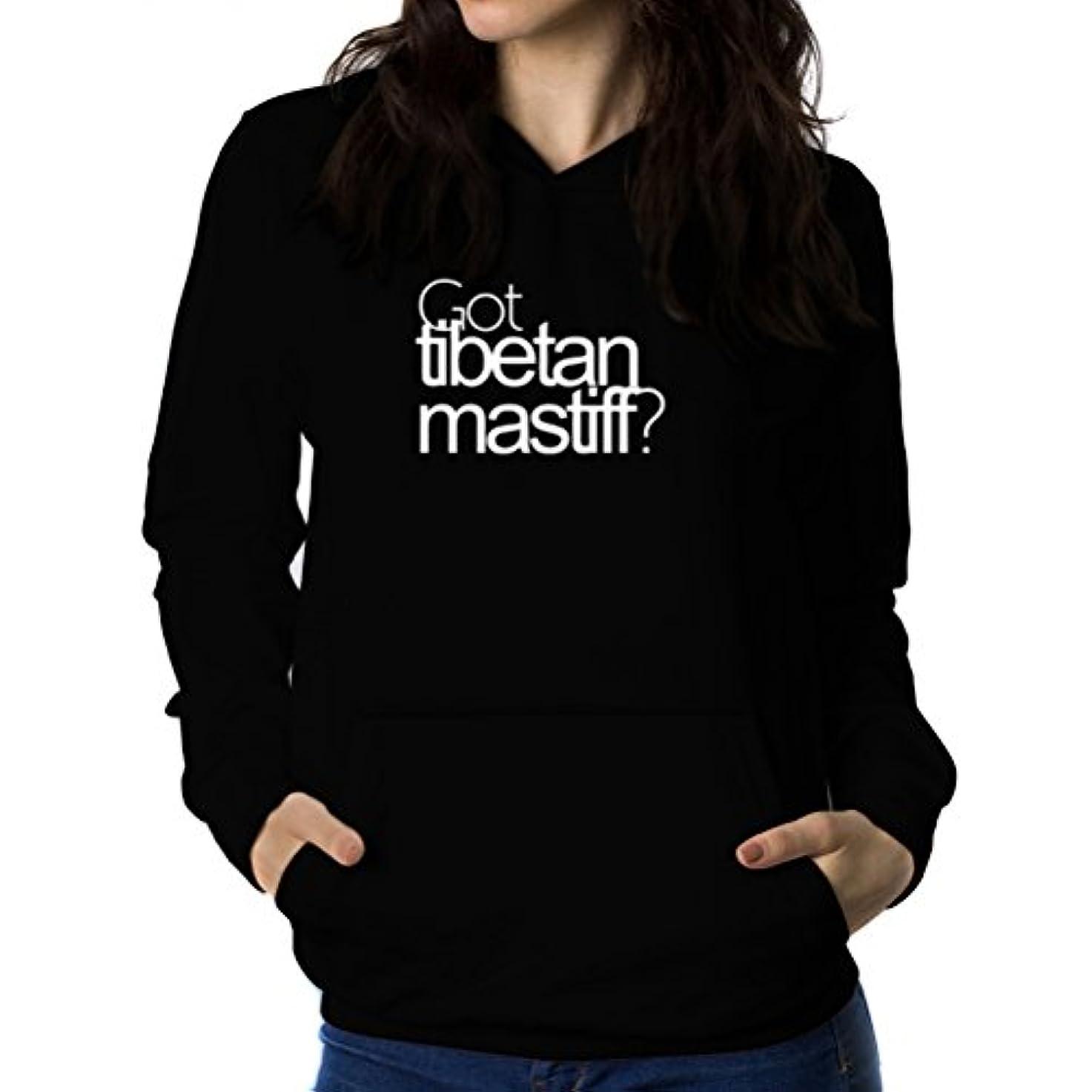 ハンカチ抗生物質極めて重要なGot Tibetan Mastiff? 女性 フーディー