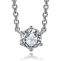 Italina Women Fashion Jewelry Necklace Simple Cubic Zirconia Pendant Jewellery Rohodium/Gold/Rosegold Plated