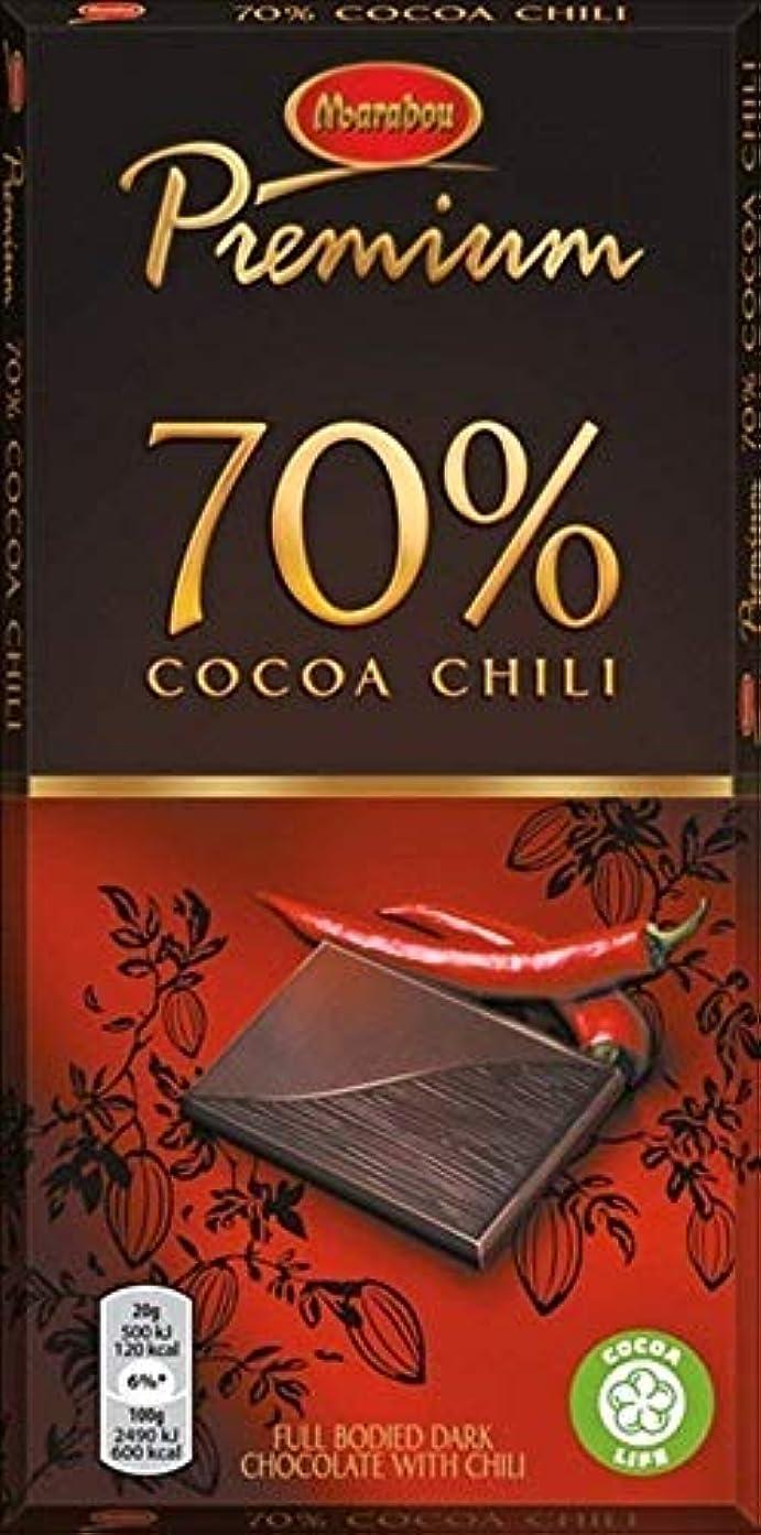 スイッチ刻むジェスチャーMarabou マラボウ プレミアム チリ味 板チョコレート 100g × 20枚 スゥエーデンのチョコレートです [海外直送品] [並行輸入品]