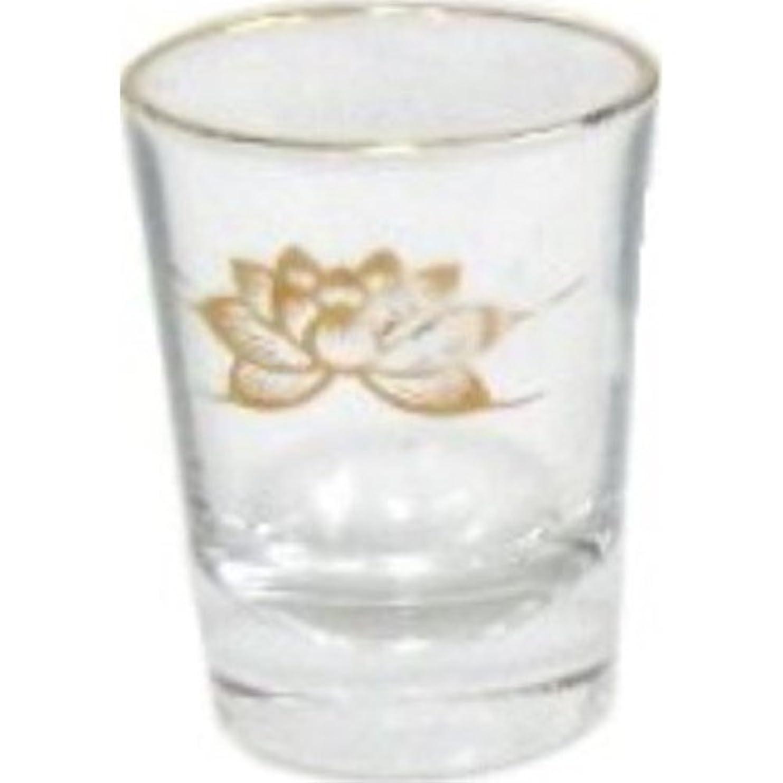バング現代の現代仏具用 ガラスコップ 金 ハス 小