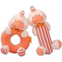 ベビー&キッズ なかよしアニマル 音が鳴る 仕掛けぬいぐるみ 知育 玩具 おもちゃ がらがら 雛人形