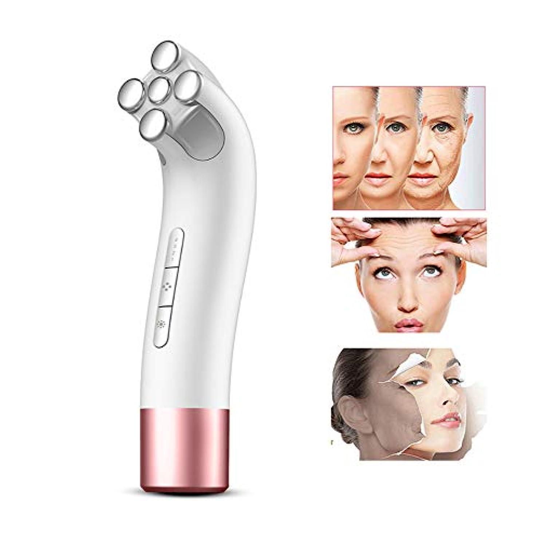 トロリーバス和翻訳する超音波美容装置、EMSカラーライトマイクロ現在の顔の美容機器-4ファイル調整顔リフティングマッサージャー