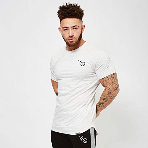 Vanquish Fitness バンキッシュフィットネス Tシャツ Essential White Short Sleeved T Shirt(Mサイズ) [並行輸入品]