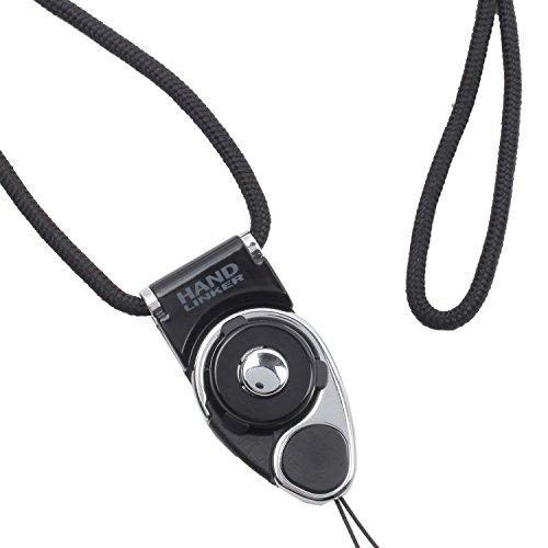 HandLinker Extra Carabiner ハンドリンカー エクストラ カラビナ ネックストラップ 落下防止 モバイル 携帯ストラップ フィンガーストラップ / ブラック