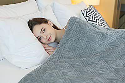Weighted Blanket by YnM, Fall Asleep Faster and Sleep Better, Great for Anxiety, ADHD, Autism, OCD, and Sensory Processing Disorder, Various Sizes and Colors Available for Adults and Children