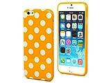 【Small happinessオリジナル】【全10色】iPhone 6(4.7インチ)iPhone6 水玉ケース ドットケース ドット柄 カバー 水玉カバー TPU かわいい 水玉柄 (オレンジ)