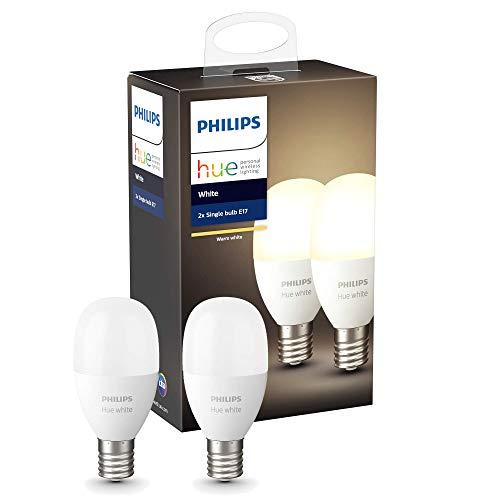 Philips Hue ホワイトシングルランプ E17(電球色)2個セット |2700K E17スマートLEDライト2個| 【Amazon Echo、Google Home、Apple HomeKit、LINE対応】