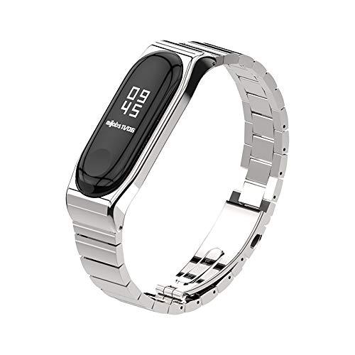 XIHAMA For Xiaomi Mi Band 3 高級 ステンレスチール 交換バンド 腕時計 替えストラップ シャオミ3 バンド ...