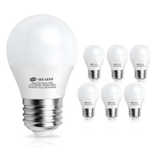 LED電球 E26口金 60W形相当 昼白色 6W E26電球 LED 省エネ 密閉形器具対応 広配光タイプ(6個入り)