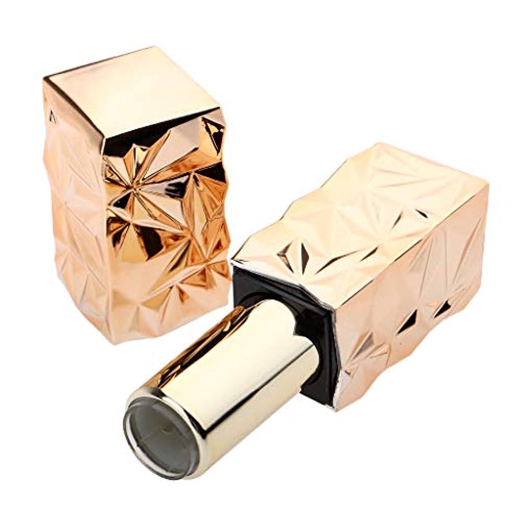 感度殉教者スズメバチ口紅 容器 空 リップクリームチューブ 口紅管 DIY 詰め替え式 ABS樹脂 全3色 - ゴールデン