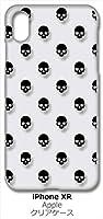 sslink iPhone XR Apple アイフォン iPhoneXR クリア ハードケース スカル ドクロ 骸骨 ドット (ブラック) スマホ ケース スマートフォン カバー カスタム ジャケット