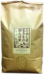 無農薬無化学肥料栽培米 滋賀県高島産 ササニシキ 令和1年産 5kg (玄米5kg)