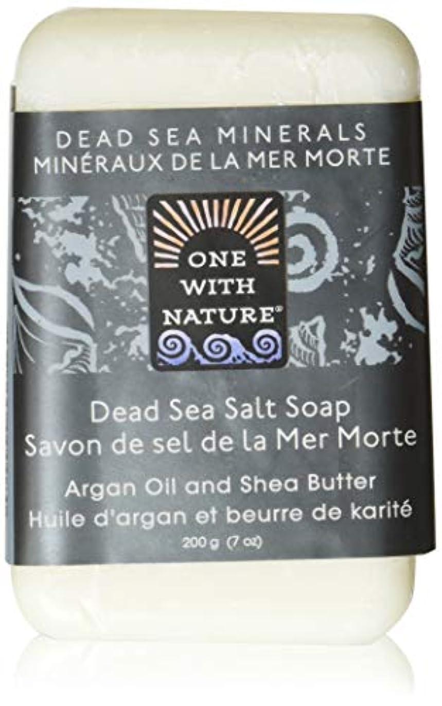 エンドウ焦げ装置Dead Sea Mineral Dead Sea Salt Soap - 7 oz by One With Nature