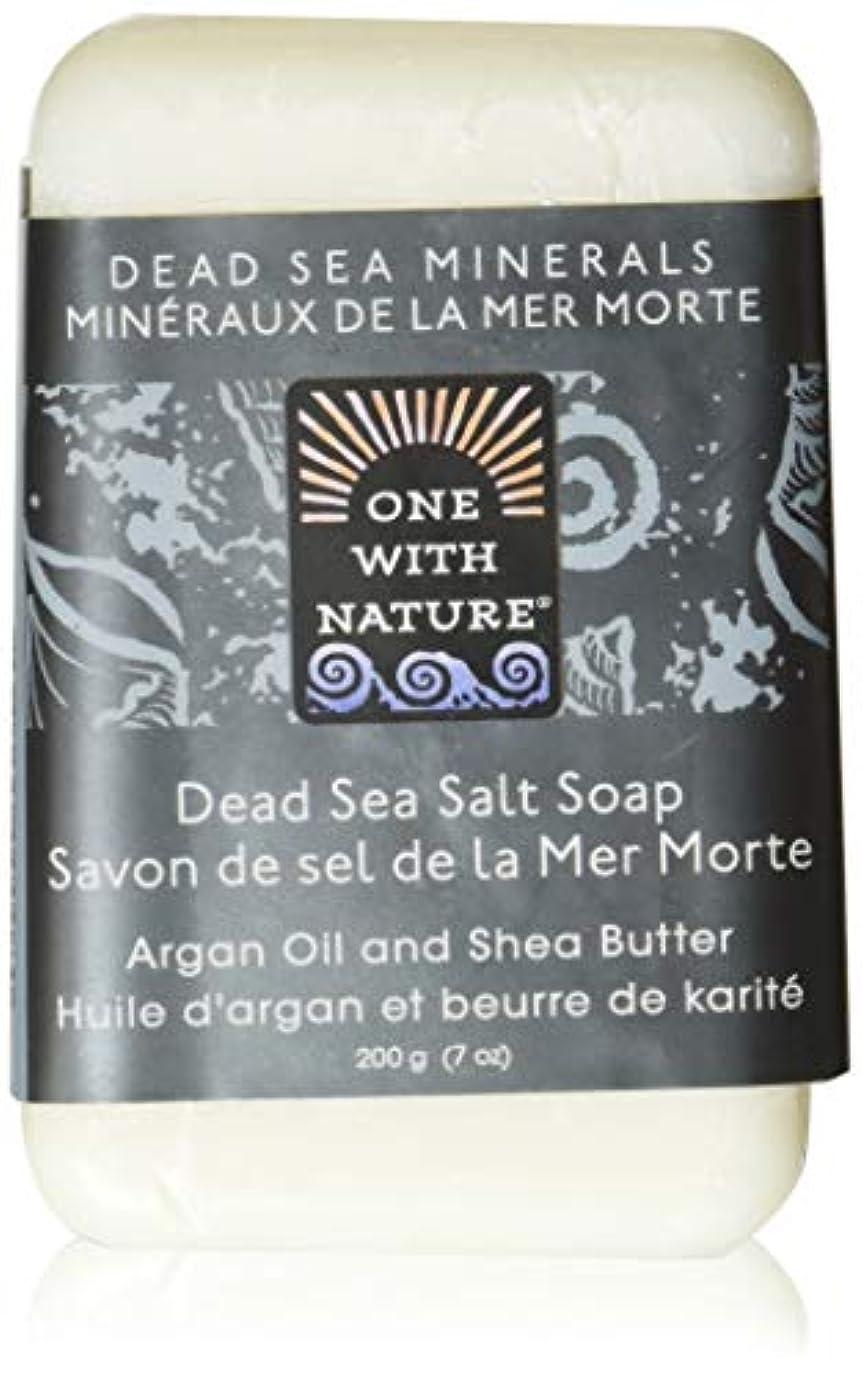 満了本物夜明けにDead Sea Mineral Dead Sea Salt Soap - 7 oz by One With Nature
