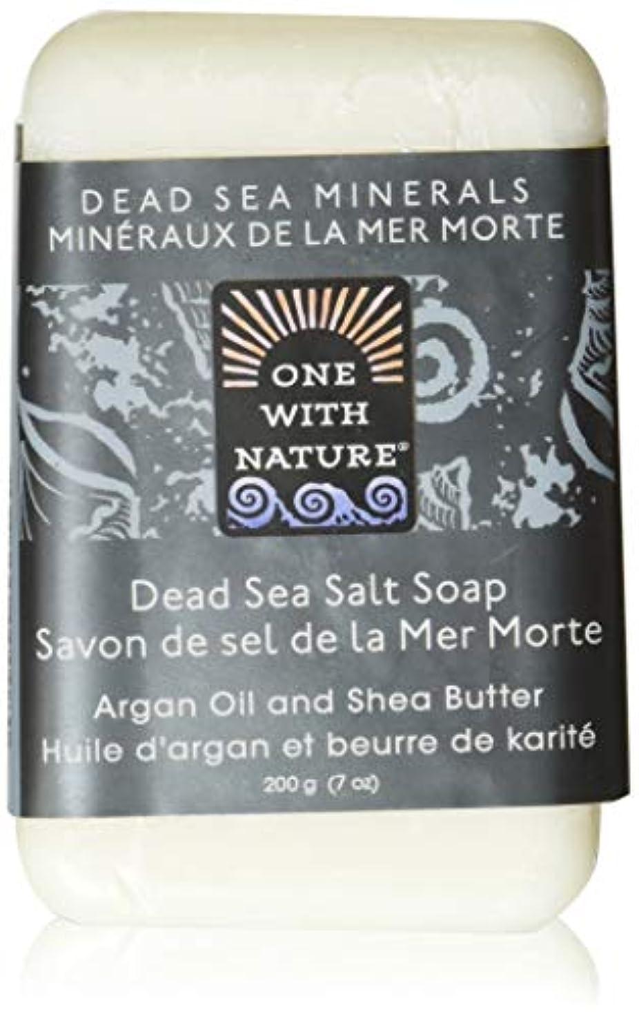 ボイラー文芸通路Dead Sea Mineral Dead Sea Salt Soap - 7 oz by One With Nature