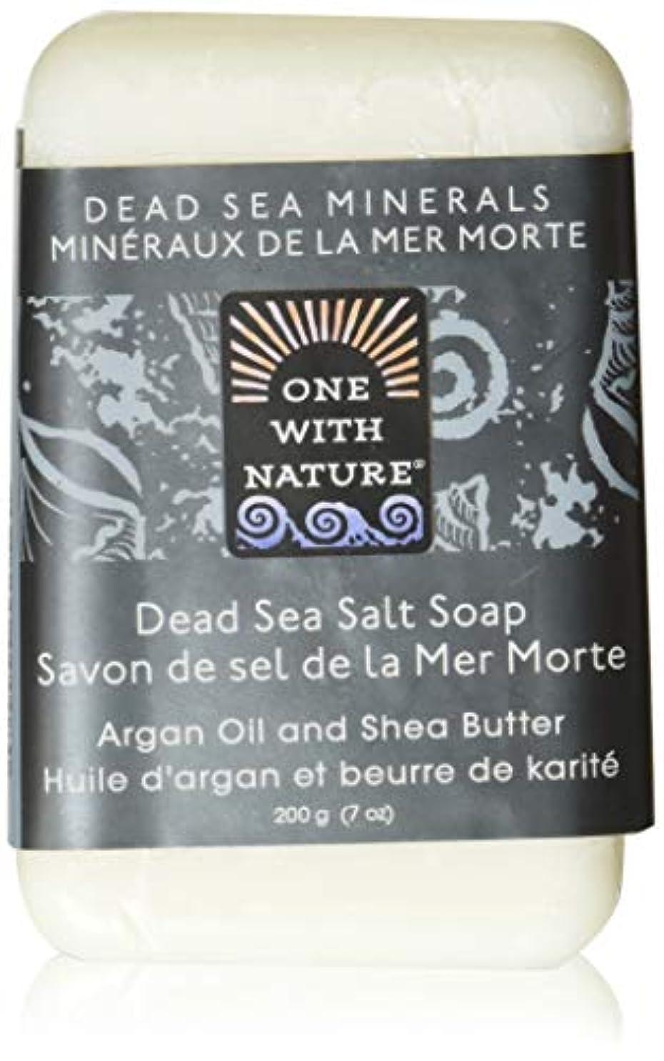 スキッパー困惑盆Dead Sea Mineral Dead Sea Salt Soap - 7 oz by One With Nature