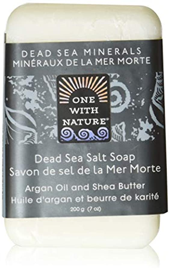 シャワー馬力批判Dead Sea Mineral Dead Sea Salt Soap - 7 oz by One With Nature
