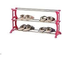 シューズラック- 3段の靴ラックシンプルなステンレススチール収納キャビネット家具クリエイティブシンプルな靴オーガナイザー棚(70 * 26 * 37センチメートル)