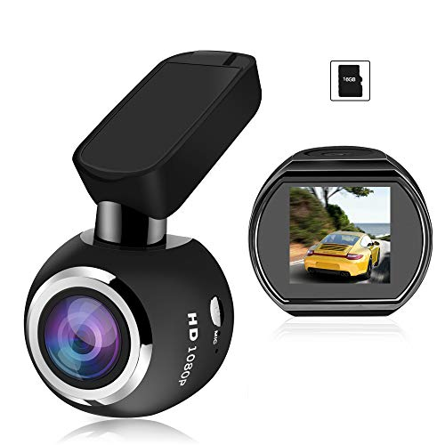 HQBKiNG ドライブレコーダー Wifi ダッシュカメラ 原装16Gカード付き 1080PフルHD SONYセンサー搭載 Gセンサー内蔵 超ミニ車載ドラレコ 170度広角 360度回転 WDR 駐車監視 動体検知 上書き録画