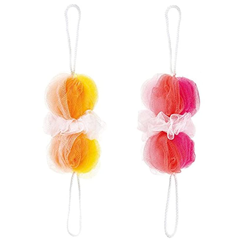 襲撃繊維物理マーナ 背中も洗えるシャボンボール ミックス 2色セット(P&Y)