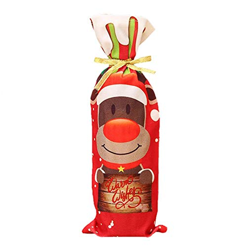 Demiawaking ボトルカバー クリスマス 袋 サンタ...