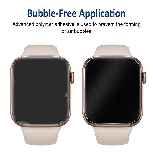 『VICARA Compatible apple watch series 4 保護フィルム 非ガラス 水貼り 貼り直し可 超薄 TPU保護フィルム 気泡ゼロ Compatible apple watch series 4 スクリーン保護フィルム(6枚入り 44mm)』の3枚目の画像