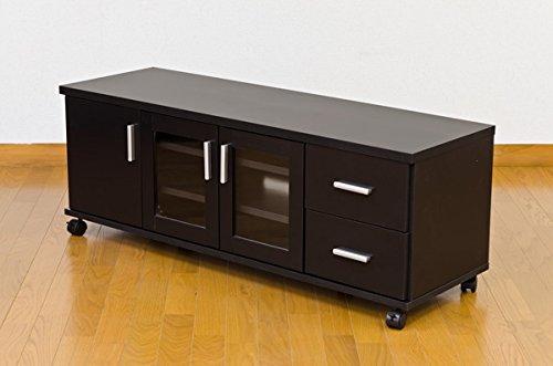 TREVIS テレビボード 120cm幅 ブラック HIT-08BK