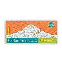 Mudpuppy Happy Birthday Color-In Crowns [並行輸入品]
