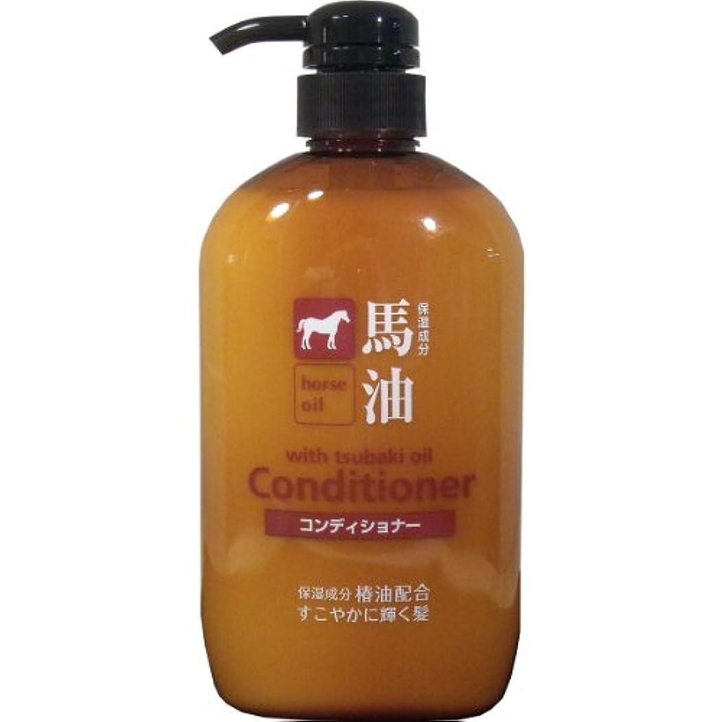 桃調整する頻繁に馬油コンディショナー 椿油配合 600mL