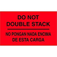 Tape Logic DL3051 Special Handling Label Legend No Pongan Nada Encima De Esta Carga Bilingual 5 Length x 3 Width Fluorescent Red (Roll of 500) [並行輸入品]