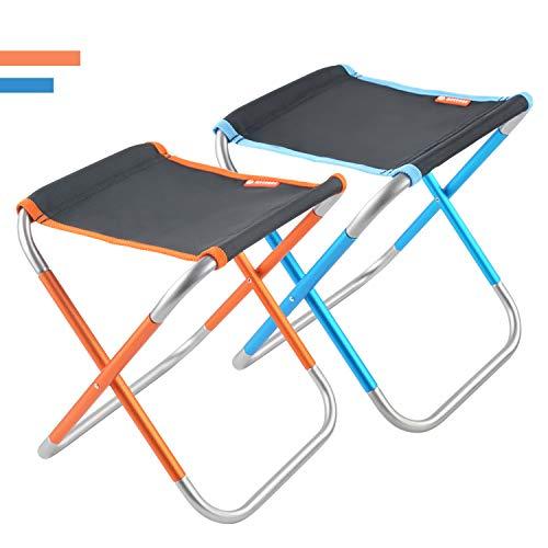 MECHHRE おりたたみいす 椅子 アウトドアチェア 超軽量 持ち運びに便利 収納バッグ付き コンパクトチェア キャンプイス 耐久性に優れ バーベキュー/お釣り/お花見/登山に 二色セット 青橘