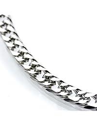 シルバーワン(Silver1)ho ダブル喜平 ネックレス[銀色 6面カット 幅7mm]60cmキヘイチェーン ステンレス メンズ